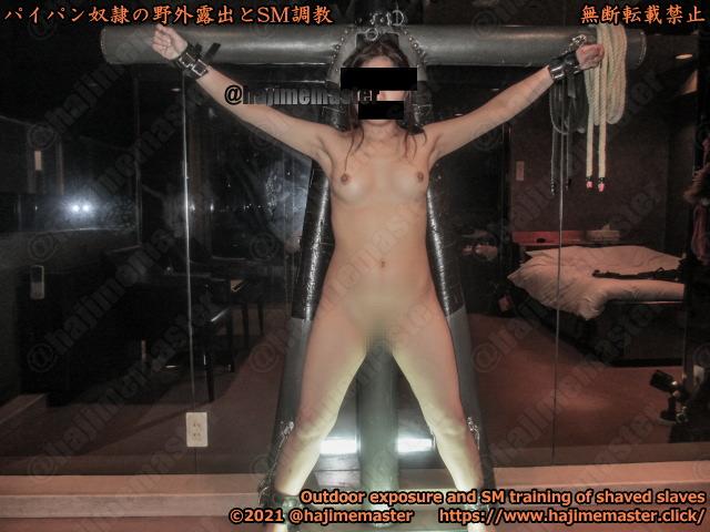 パイパン奴隷玲奈のSM調教動画|SMホテルアルファインで磔